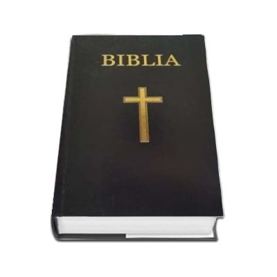 Biblia - foarte mica, 043, coperta tare, neagra, cu cruce