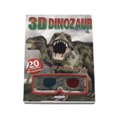 Dinozauri - Cu ochelari 3D! - Contine 20 de abtibilduri 3D reutilizabile