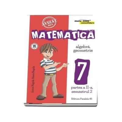 Anton Negrila, Matematica - CONSOLIDARE (2018 - 2019). Algebra si Geometrie, pentru clasa a VII-a. Partea a II-a, semestrul al II-lea (Colectia mate 2000+)