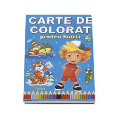 Carte de colorat pentru baieti- Format A4
