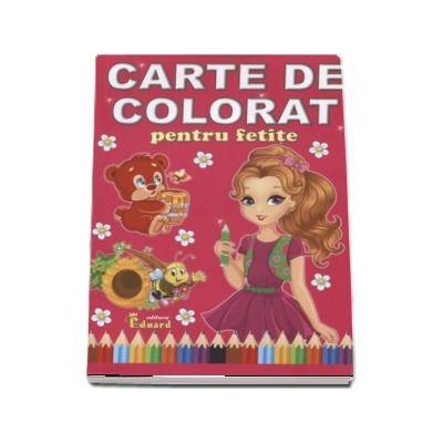 Carte de colorat pentru fetite - Format A4
