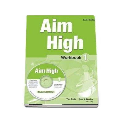 Curs de limba engleza Aim High 1 Wookbook and CD-Rom - Tim Falla