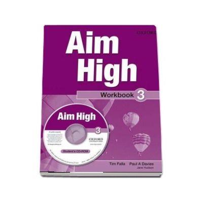 Curs de limba engleza Aim High 3 Wookbook and CD-Rom de Tim Falla