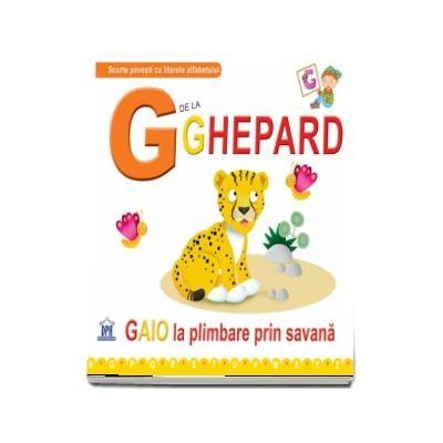 G de la ghepard. Gaio la plimbare prin savana