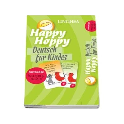 Happy Hoppy. Deutsch fur Kinder - Insusiri si relatii (Cartonase cu imagini pentru invatarea distractiva a limbii germane)