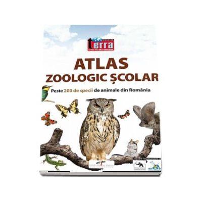 Atlas zoologic scolar. Peste 200 de specii de animale din Romania (Atlas ilustrat color cu coperti catonate)