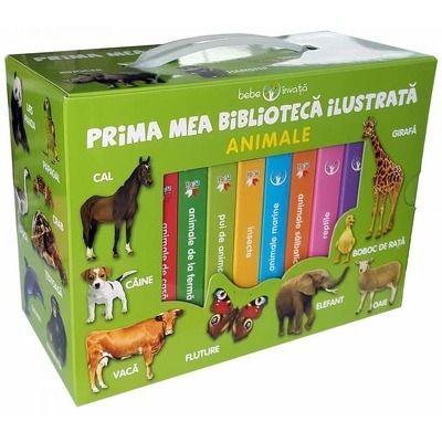 Bebe invata - Prima mea biblioteca ilustrata - Animale (Contine 8 carticele)