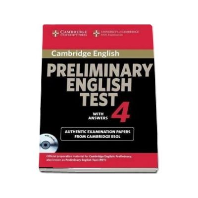 Cambridge Preliminary English Test 4 Self-study Pack - Examination Papers from the University of Cambridge ESOL Examinations