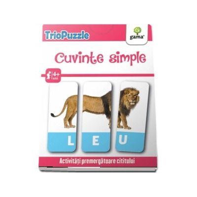 TrioPuzzle - Cuvinte simple. Activitati premergatoare cititului si scrisului (Contine 60 de carduri)