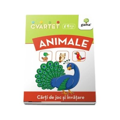 Animale - Carti de joc si invatare (Colectia Cvartet 4-6 ani)