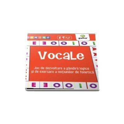 Vocale - Joc de dezvoltare a gandirii logice si de exersare a notiunilor de fonetica - Colectia Domino 4-6 ani
