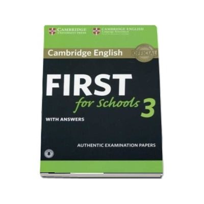 Cambridge English First for Schools 3. Student's Book with Answers with Audio