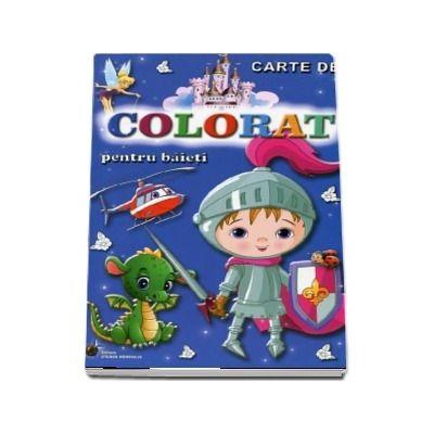 Carte de colorat. Pentru baieti