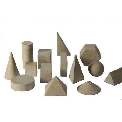 Set 14 corpuri geometrice din lemn