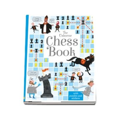 Chess book with puzzles and stickers