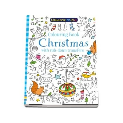 Colouring book Christmas with rub-down transfers