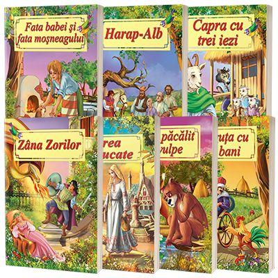 Pachet 7 carti ilustrate format A4 - Povesti de autori romani