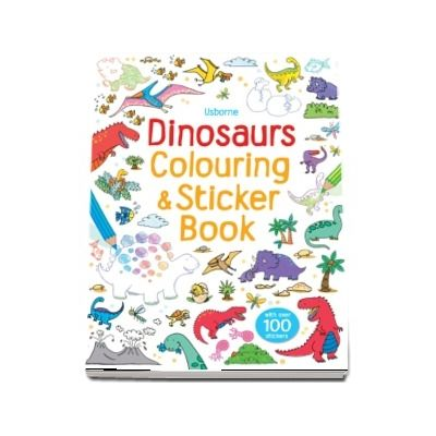 Dinosaurs colouring and sticker book