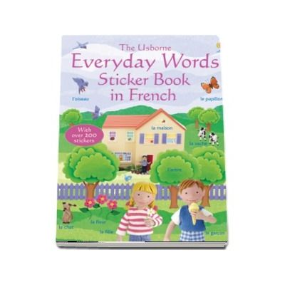 Everyday words sticker book in French