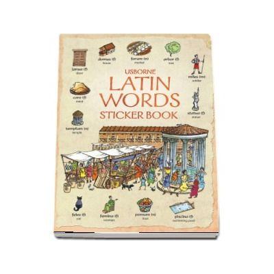 Latin words sticker book