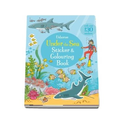 Under the sea sticker and colouring book