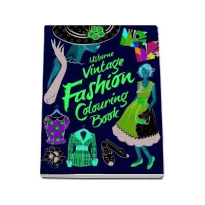 Vintage fashion colouring book
