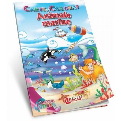 Animale marine. Carte de colorat