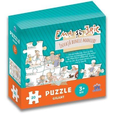 Ema si Eric invata bunele maniere - Puzzle gigant