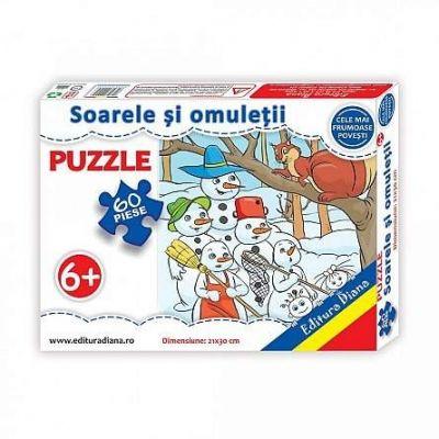 Puzzle, Soarele si omuletii de zapada. 60 de piese