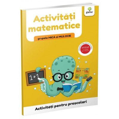 Activitati matematice - grupele mica si mijlocie. Activitati pentru prescolari