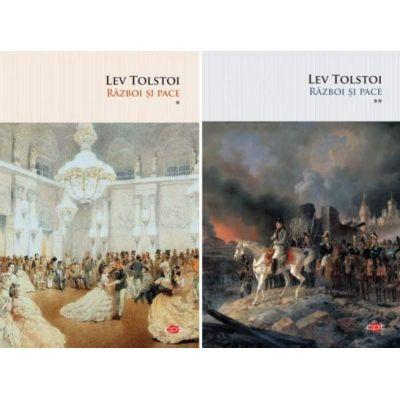 Set Razboi si pace. Set doua volume de Lev Tolstoi