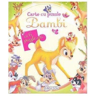 Bambi. Carte cu puzzle, cu 6 puzzle-uri