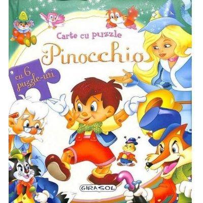 Pinocchio. Carte cu puzzle, cu 6 puzzle-uri