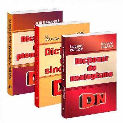 Pachet de 3 dictionare - Pleonasme, sinonime si neologisme
