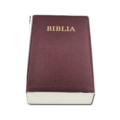 Biblia mica, coperta piele, grena, margini aurii, repertoar, fermoar