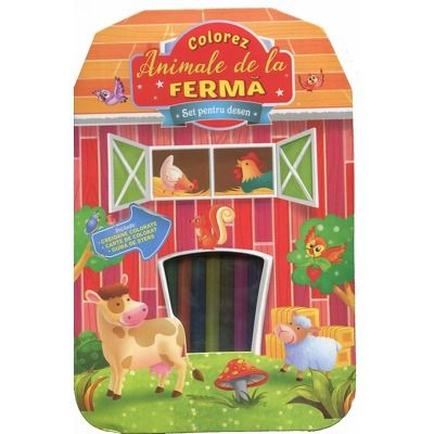 Colorez animale de la ferma. Set pentru desen