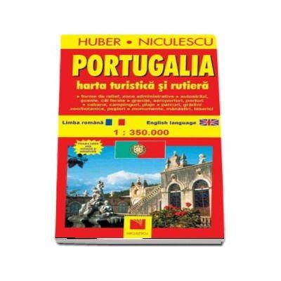 Portugalia. Harta turistica si rutiera