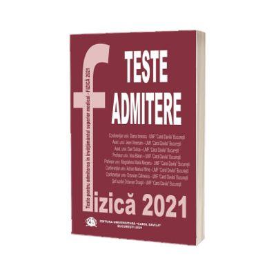Fizica 2021, Teste pentru admiterea in invatamantul superior medical, Carol Davila