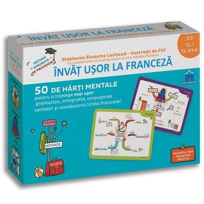 Invat usor la franceza: 50 de harti mentale - Volumul I - CP, Cls. I, a II-a