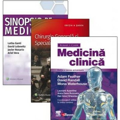 Medicina clinica, Chirurgie generala si specialitati chirurgicale, Medicina clinica. Set 3 Volume Rezidentiat, Parveen Kumar, Hipocrate