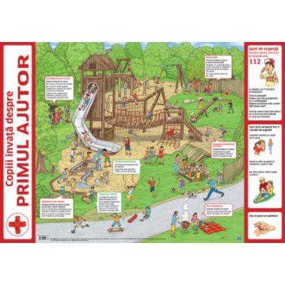 Plansa - Copii invata despre primul ajutor