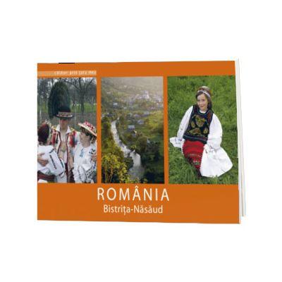 Bistrita-Nasaud. Text in limba Romana-Engleza-Franceza