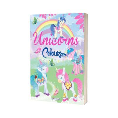 Carte de colorat. Unicorns Colours, verde