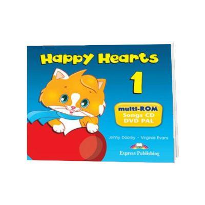 Curs limba engleza Happy Hearts 1 Multi-ROM, Jenny Dooley, Express Publishing