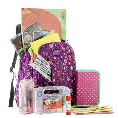 Ghiozdan echipat pentru clasele 5-8, model pentru fete