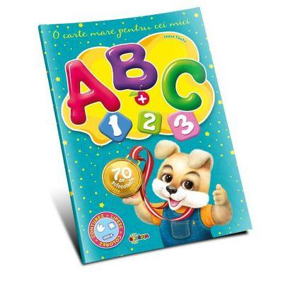 Marea carte de colorat. ABC + 1, 2, 3. O carte mare pentru cei mici