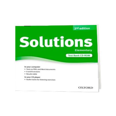 Solutions. Elementary. Test Bank CD-ROM