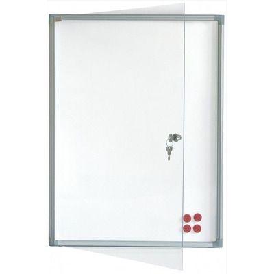 Avizier securizat, magnetic, cu geam vertical 510x680, Eurodidactica