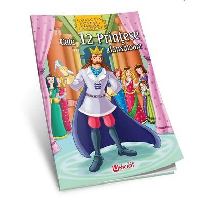 Cele 12 printese dansatoare - Povesti de colorat (Macaw Book)