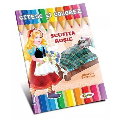 Citesc si colorez. Scufita Rosie